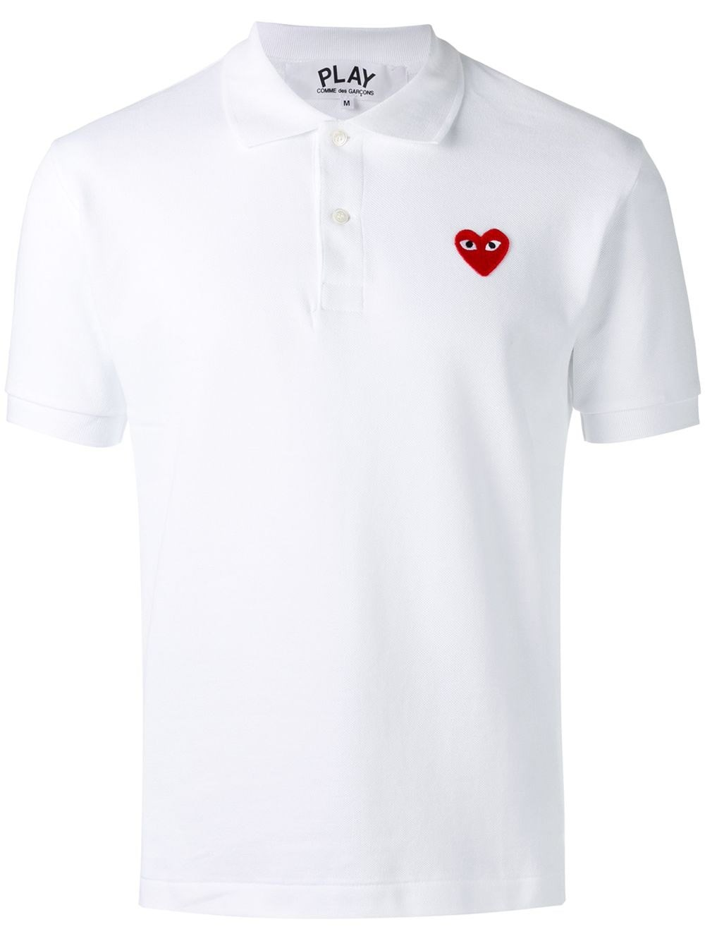 COMME DES GARCONS PLAY Classic Polo Shirt Small Heart