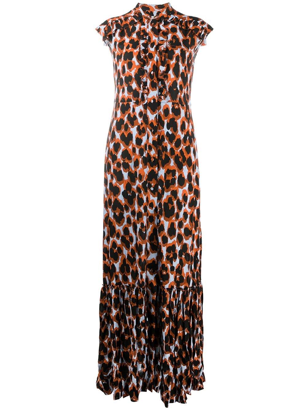 "GOLDEN GOOSE DELUXE BRAND Leopard Print ""Annagiulia"" Maxi Dress"