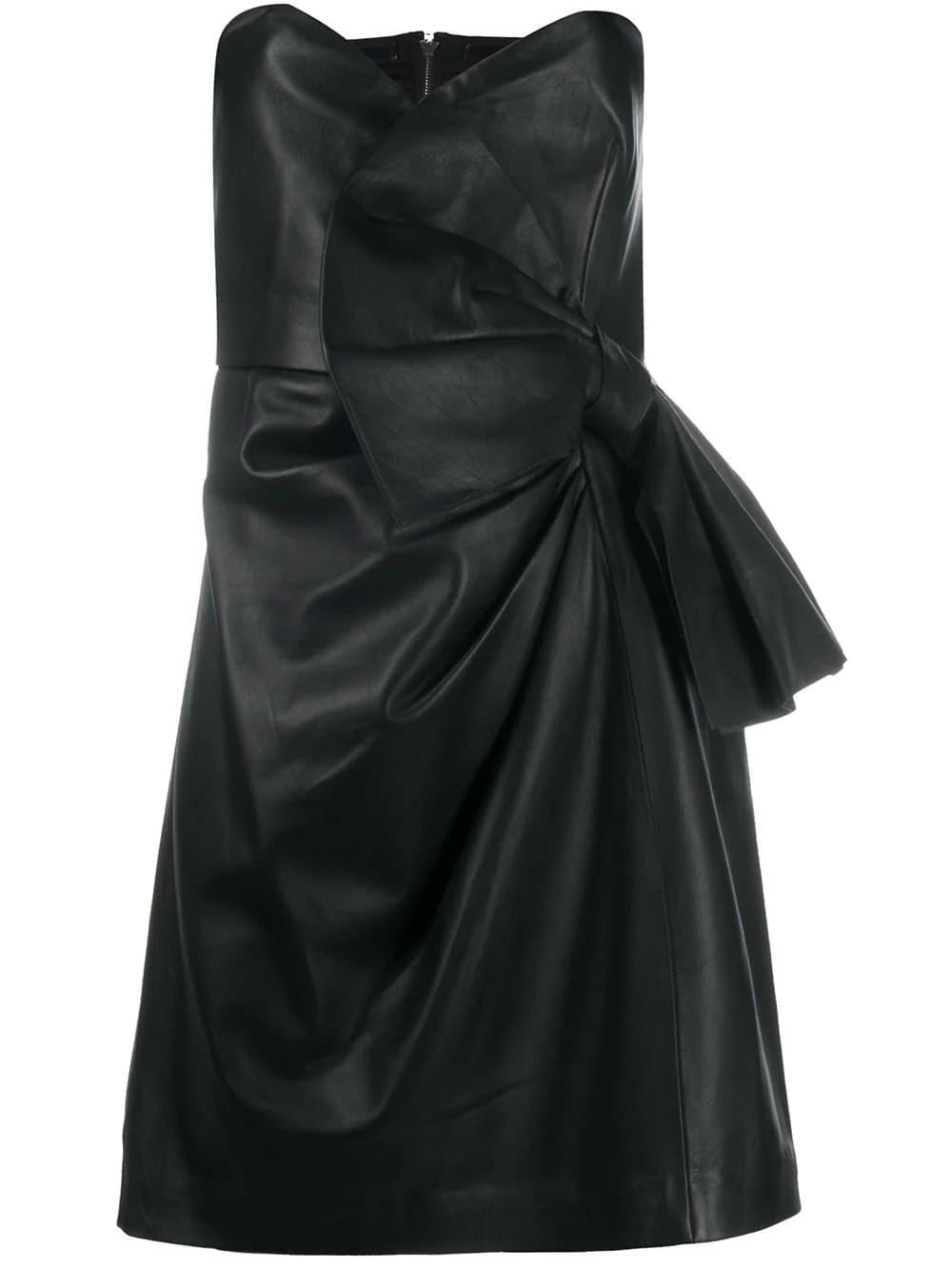 REDVALENTINO Leather Sheath Dress