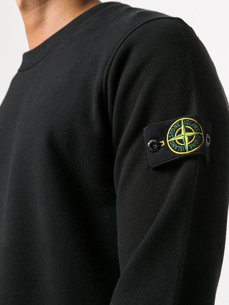 Stone Island Black Sweater With Patch For Men Us Al Duca D Aosta