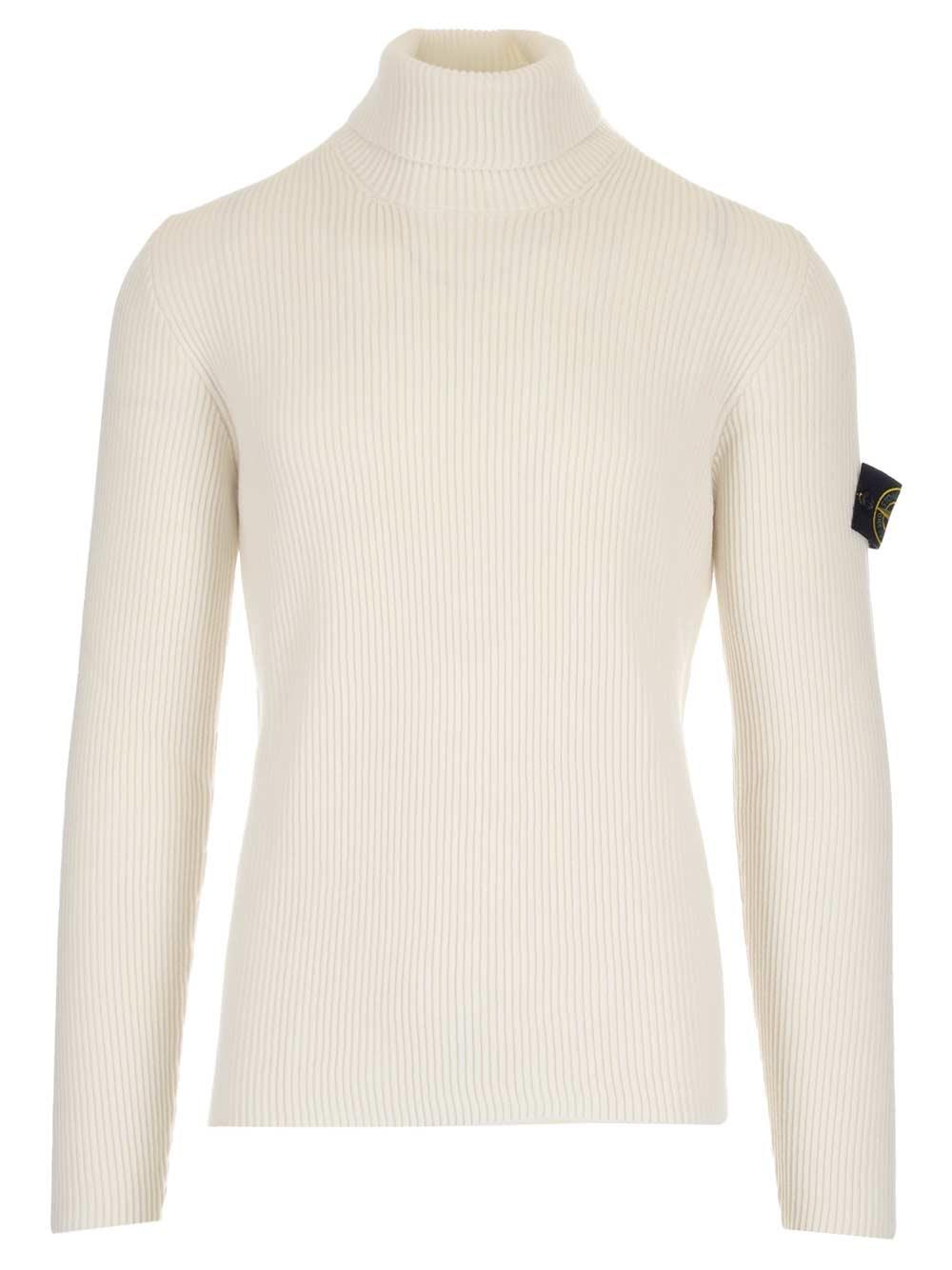Stone Island Ribbed Wool Sweater For Men Us Al Duca D Aosta