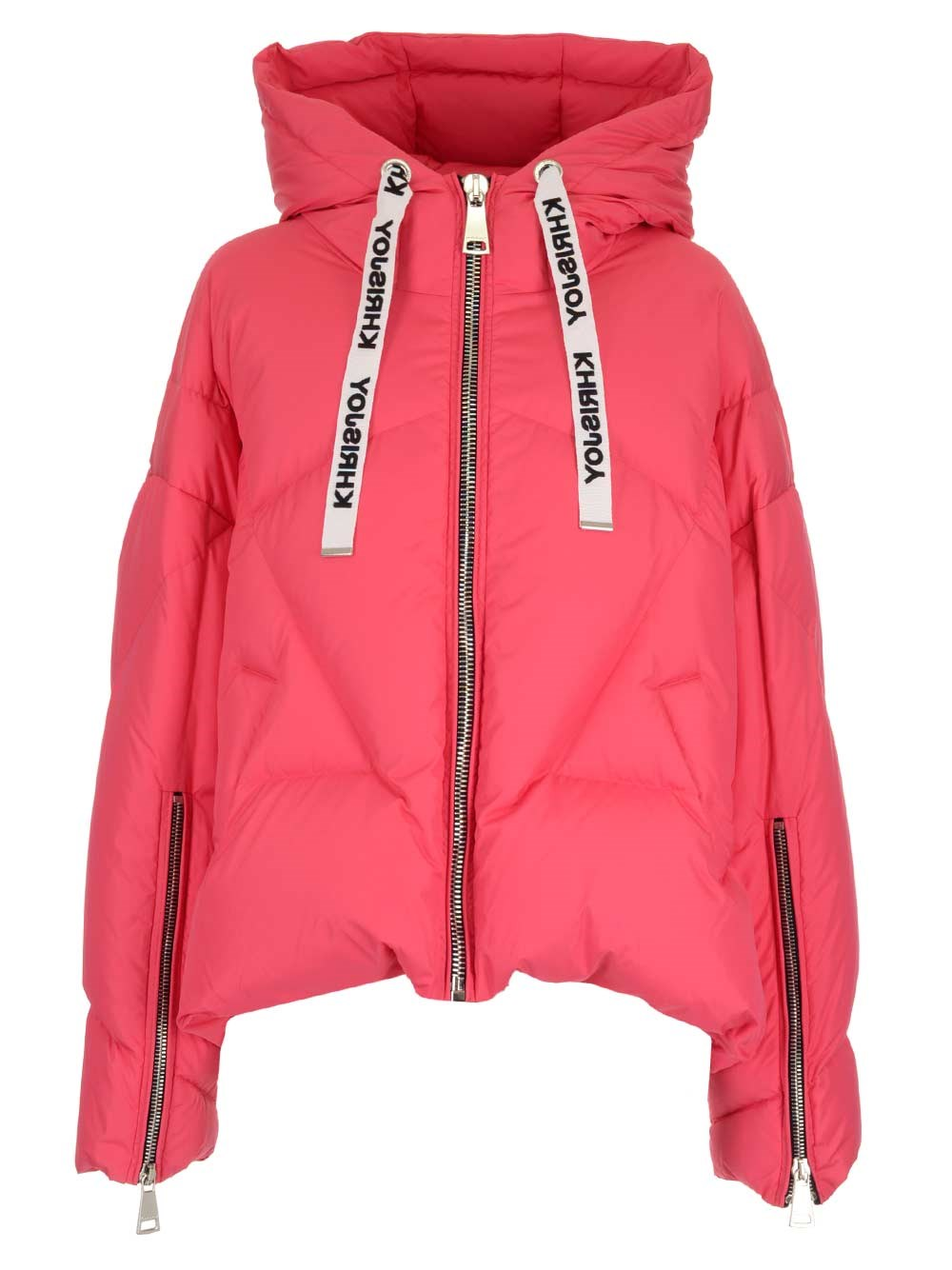 "KHRISJOY Strawberry Pink ""Khris"" Down Jacket"