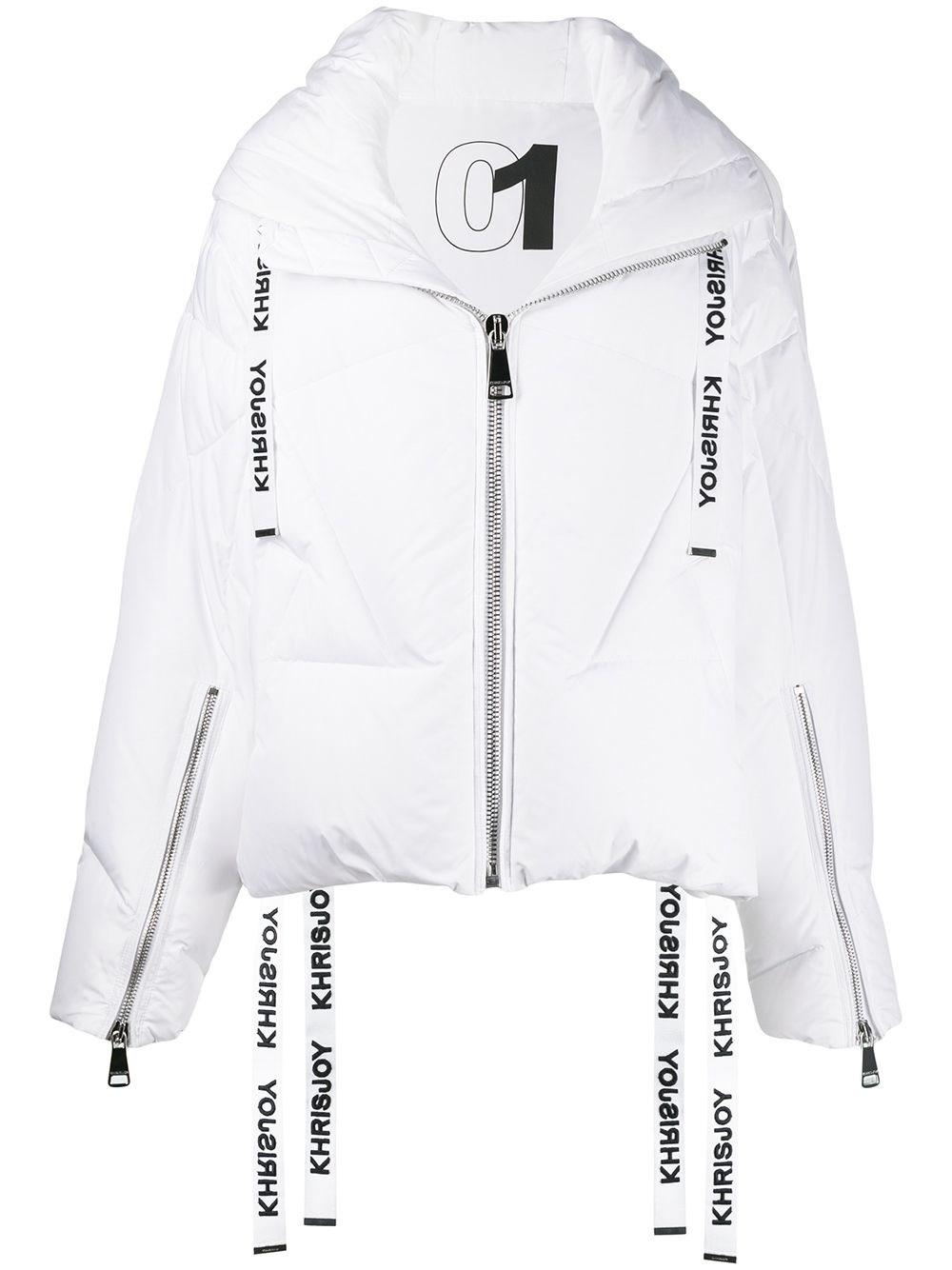 KHRISJOY White Puffer Jacket