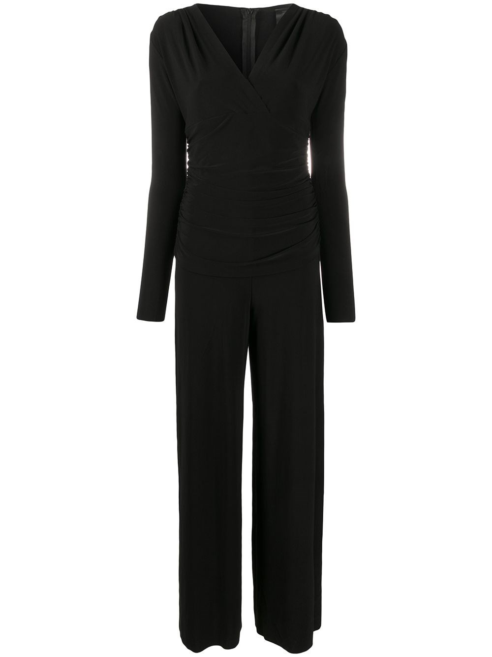 NORMA KAMALI Gathered Wrap-Front Jumpsuit