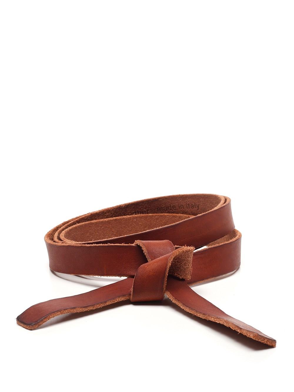 FORTE_FORTE Raw Leather Belt