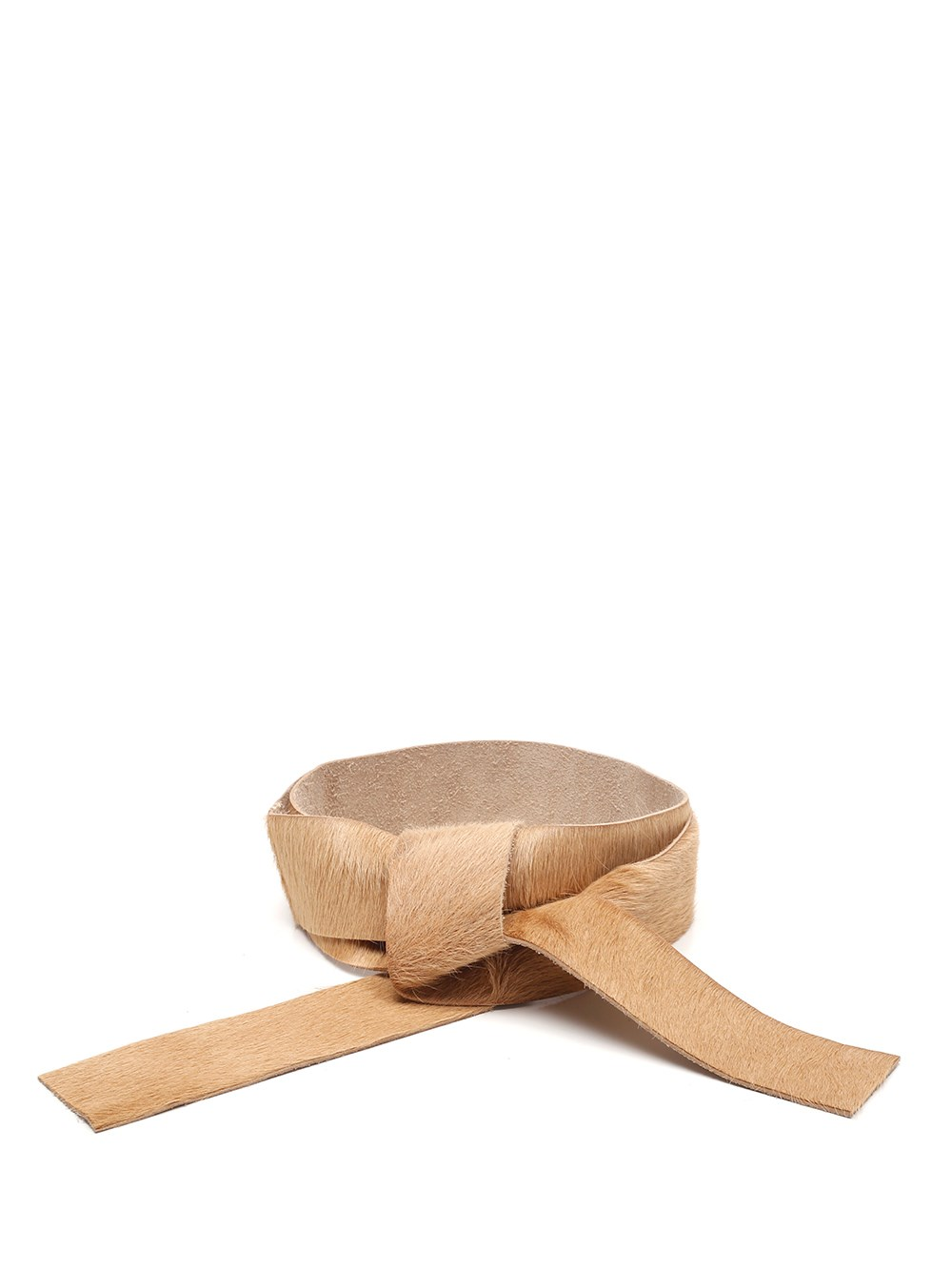 FORTE_FORTE Leather Tie-Belt