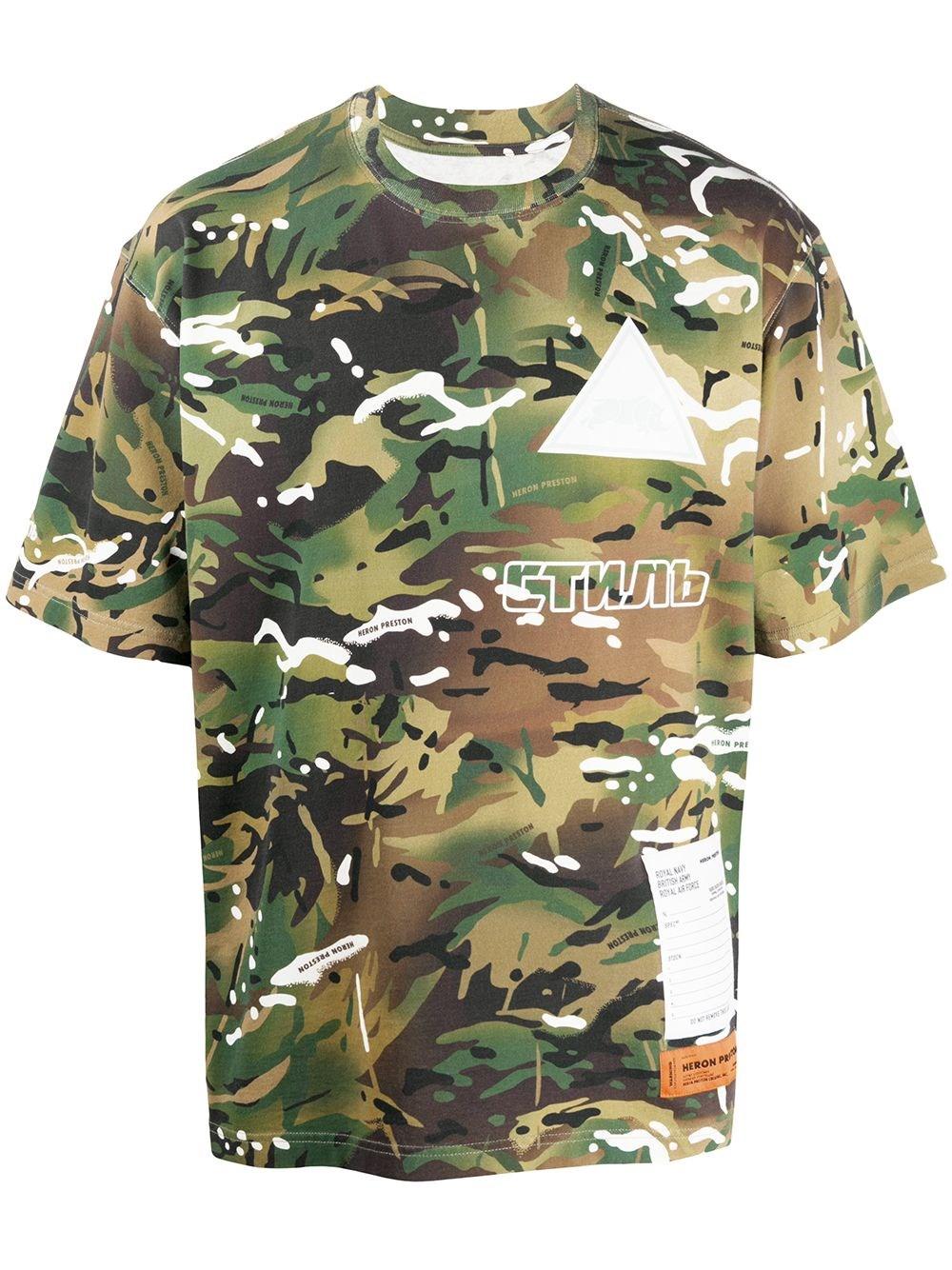 HERON PRESTON Camouflage T-Shirt