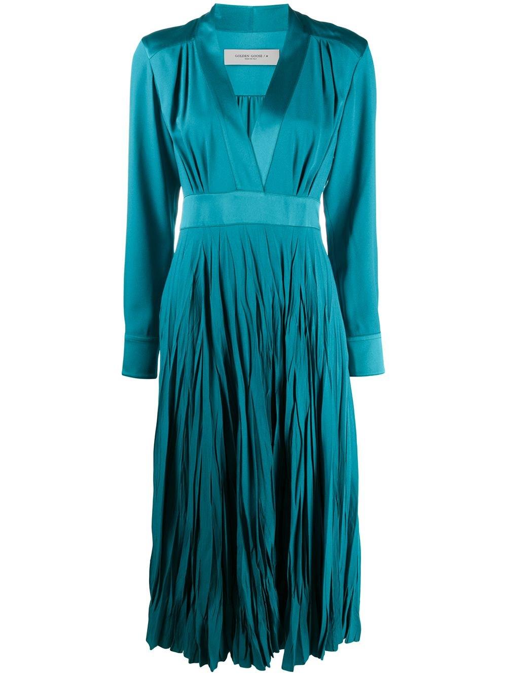 "GOLDEN GOOSE DELUXE BRAND ""Adriana"" Teal Blue Jersey Dress"