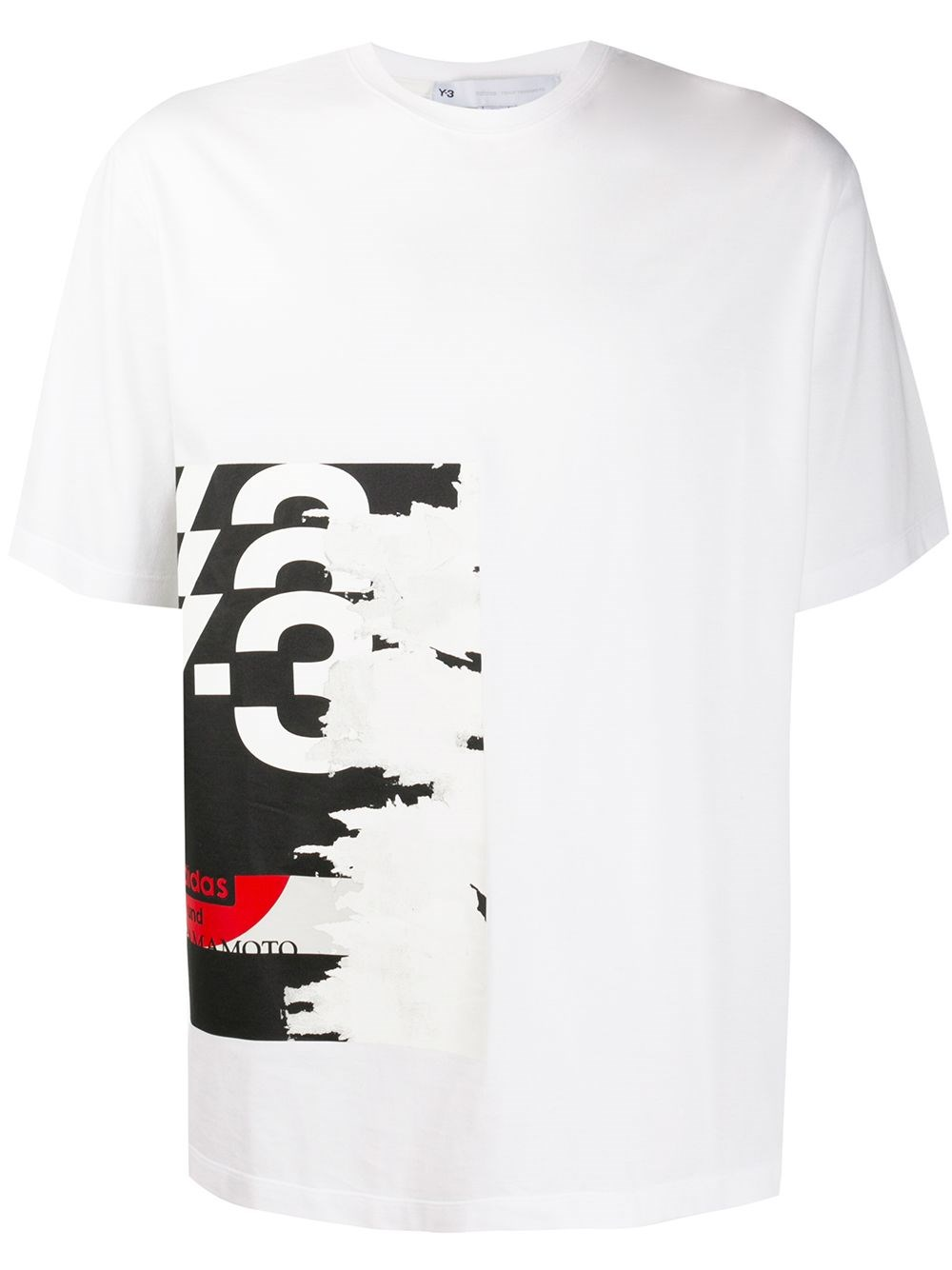 ADIDAS Y-3 White T-Shirt With Logo