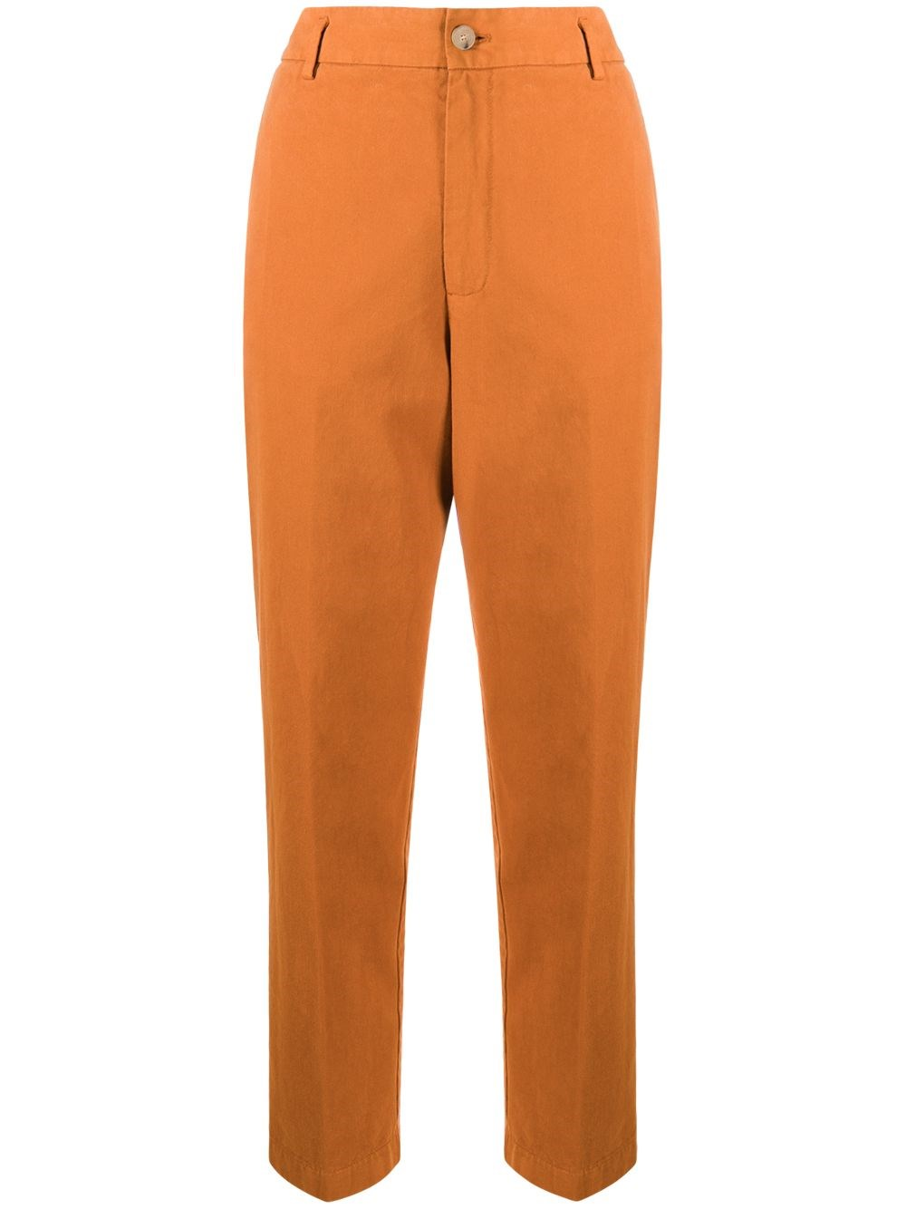 FORTE_FORTE High Waisted Straight Leg Trousers
