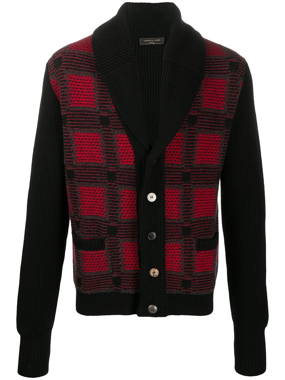 GABRIELE PASINI Plaid-Check Cardi-Coat