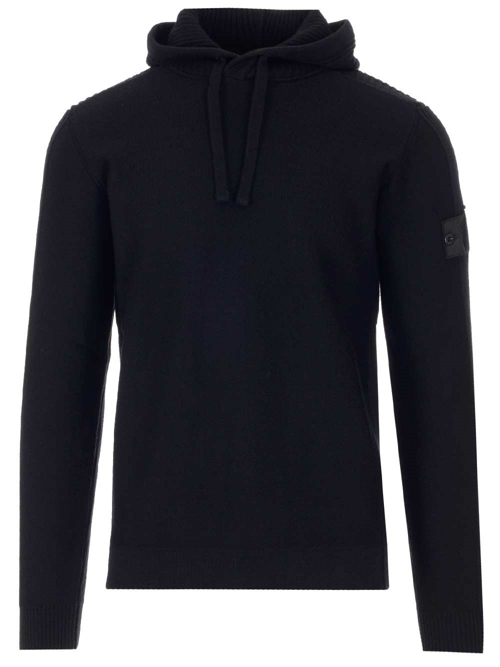 STONE ISLAND SHADOW Black Sweater With Hood