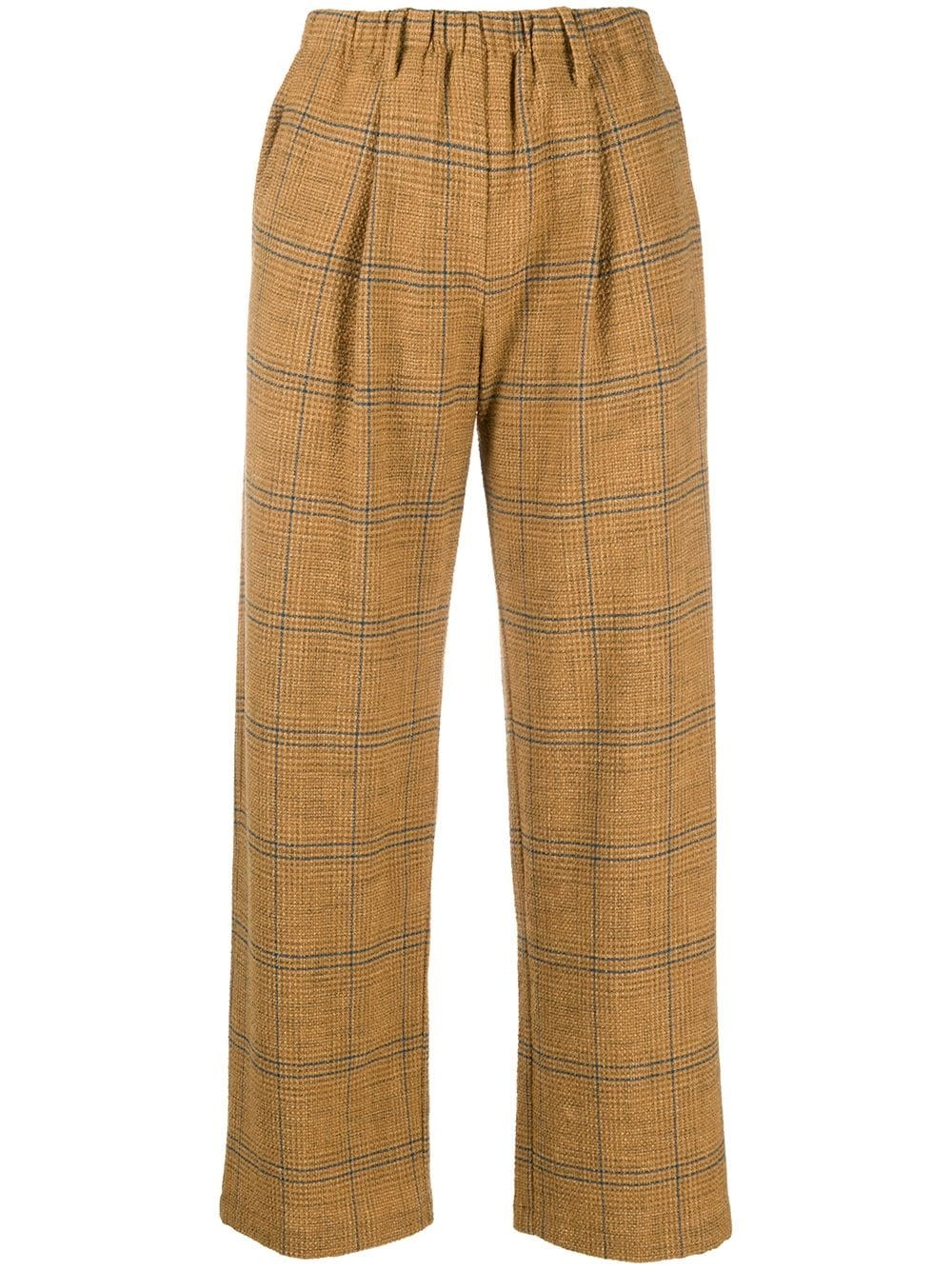 FORTE_FORTE Check Cropped Trousers
