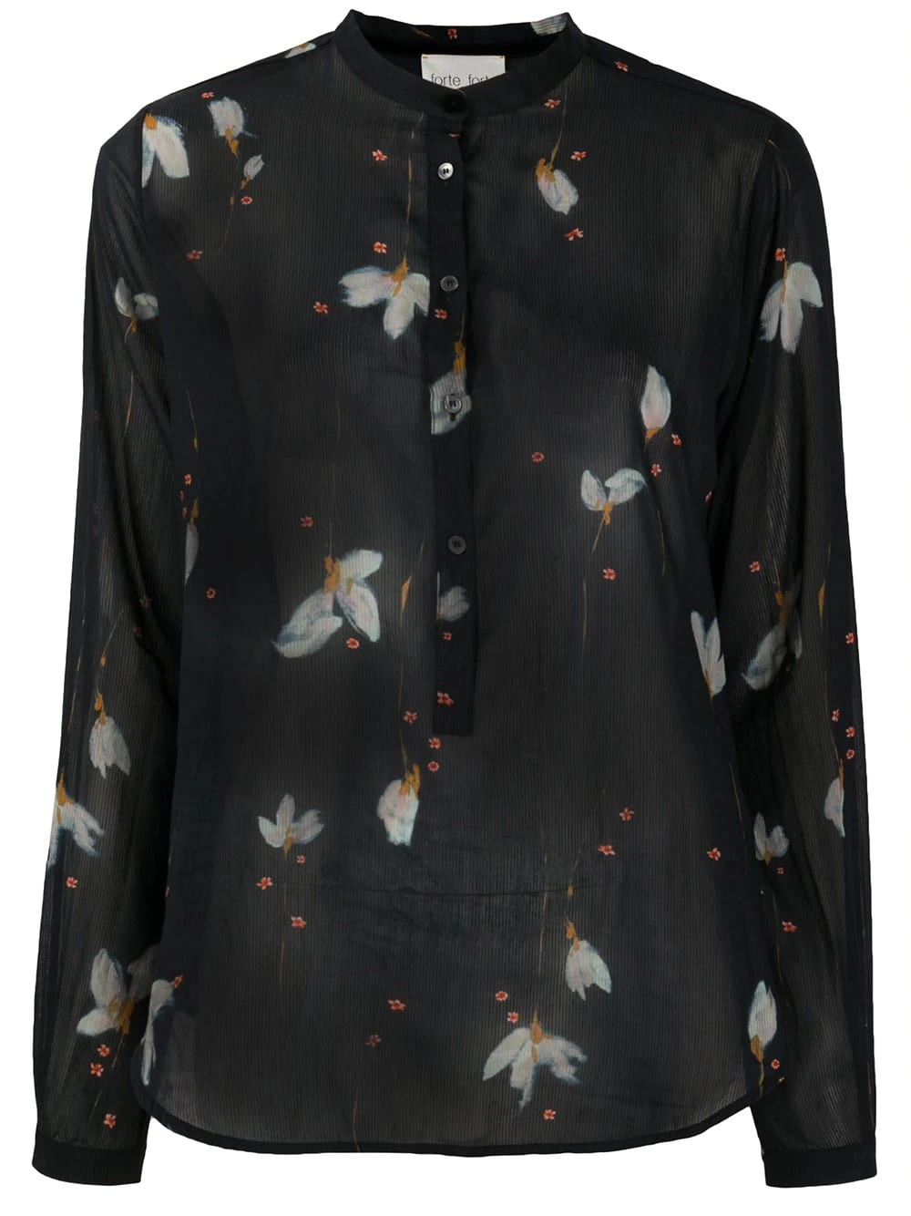 FORTE_FORTE Floral-Print Loose-Fit Blouse