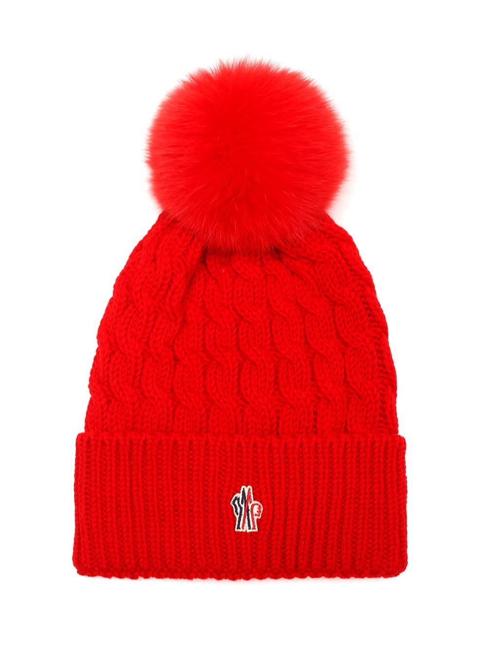 MONCLER GRENOBLE Red Wool Beanie