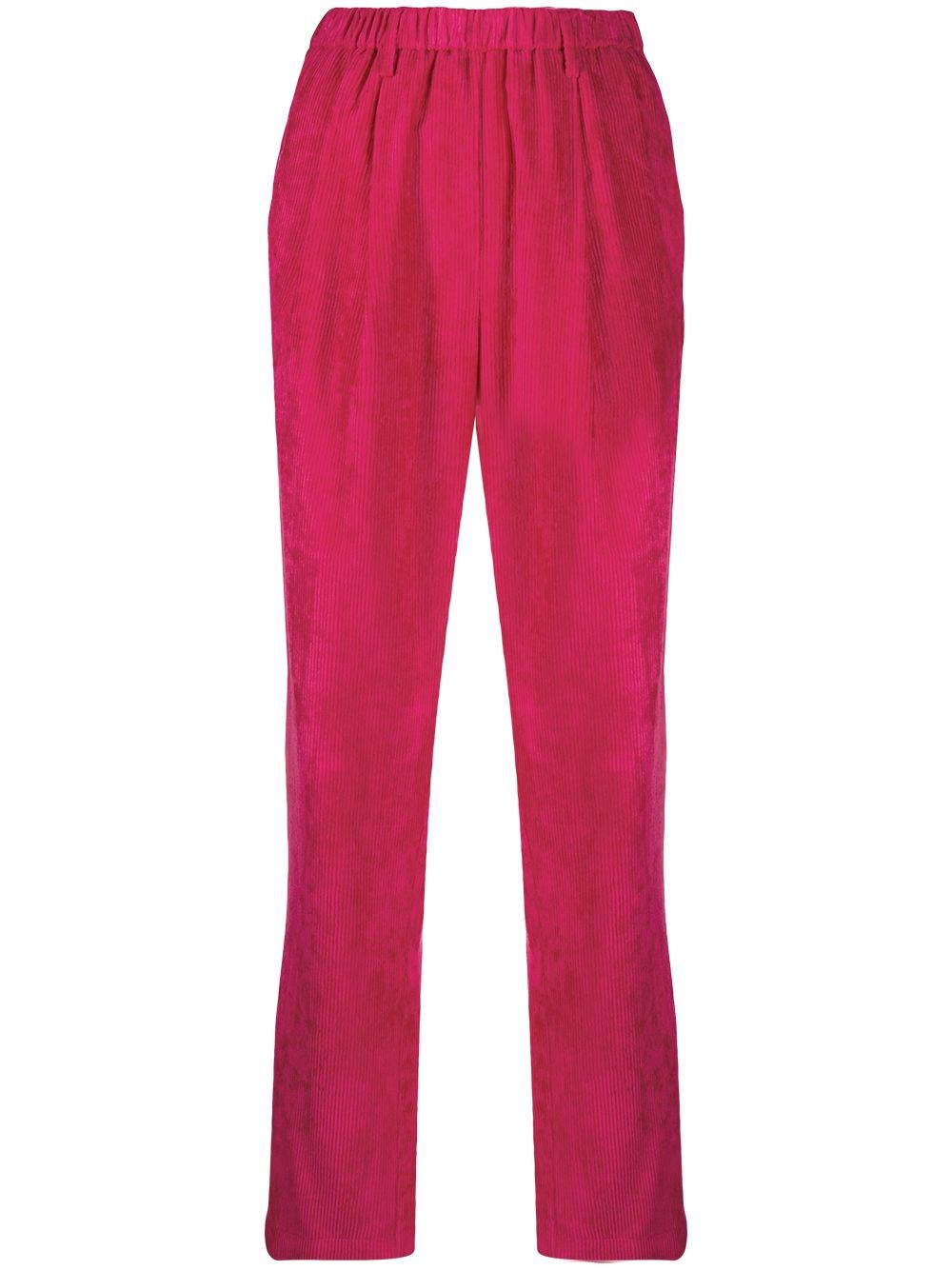 FORTE_FORTE Pink Corduroy Finish Trousers