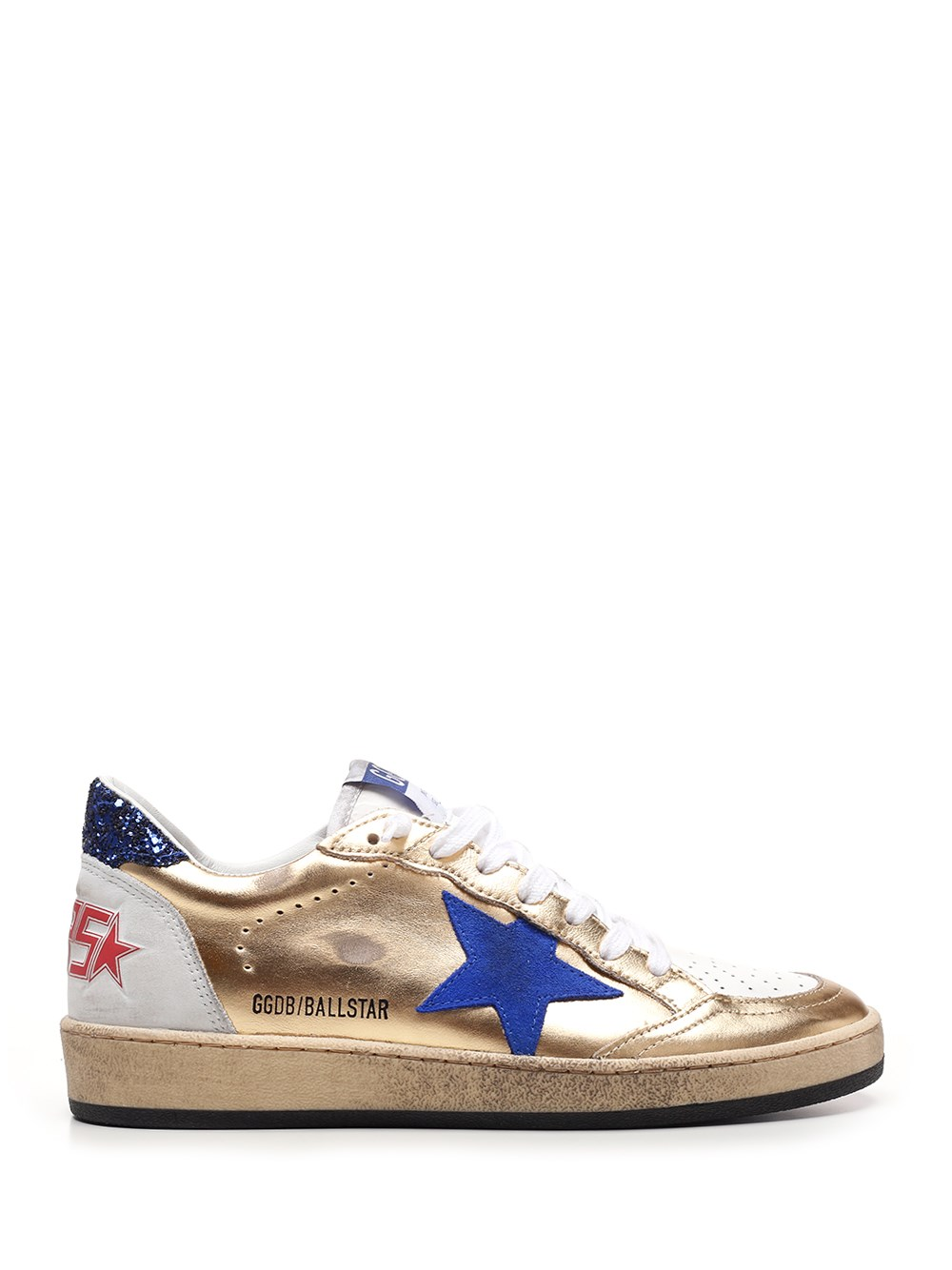 "GOLDEN GOOSE DELUXE BRAND ""Ballastar"" Sneakers In Gold Laminated Leather"