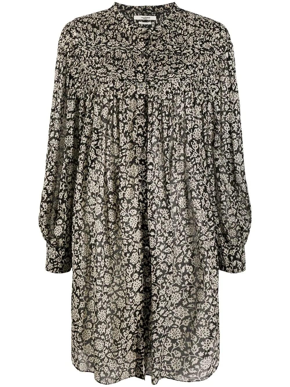 ISABEL MARANT ETOILE Flower Print Shirt Dress