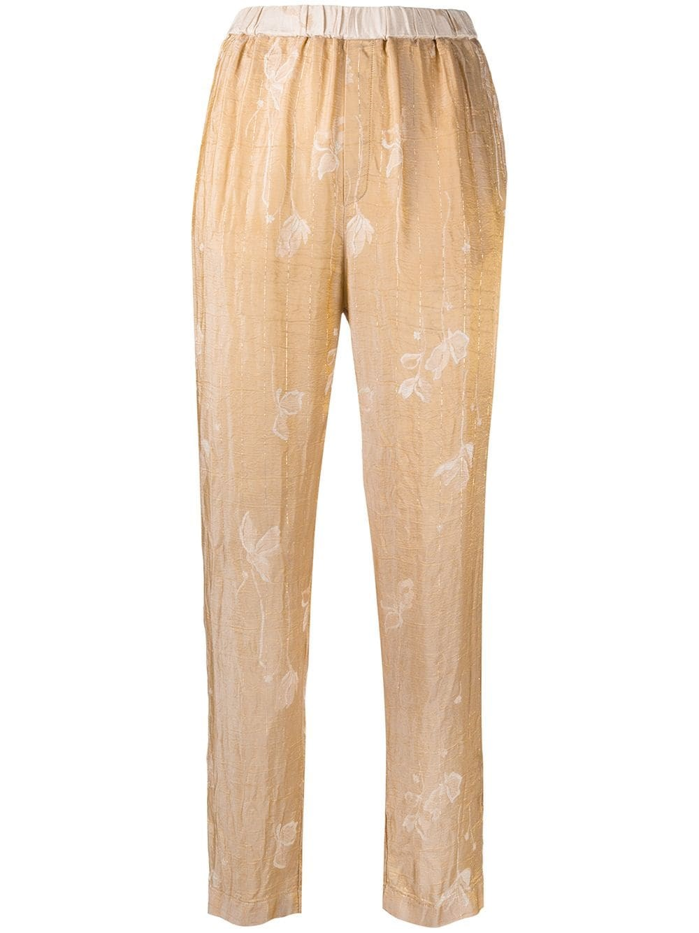 FORTE_FORTE Floral Jacquard Tapered Trousers