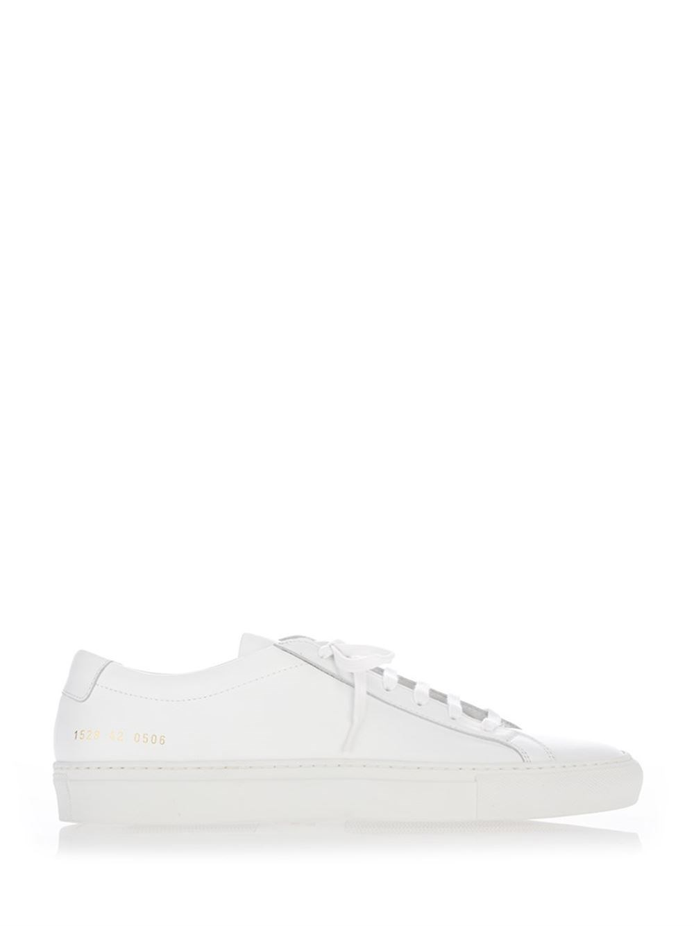 "COMMON PROJECTS ""Achilles"" Total White Nappa Sneakers"