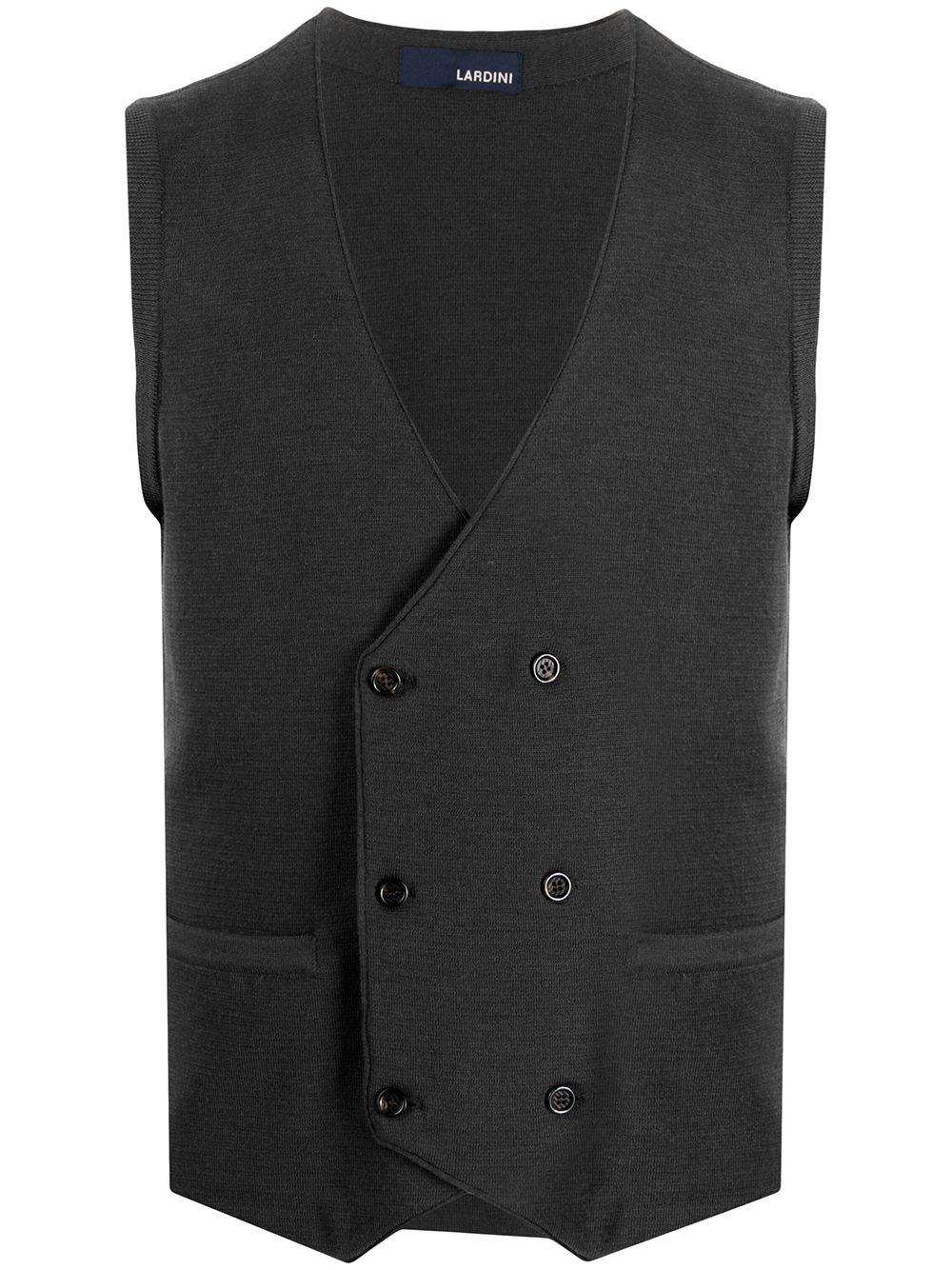 LARDINI Double-Breasted Knit Vest