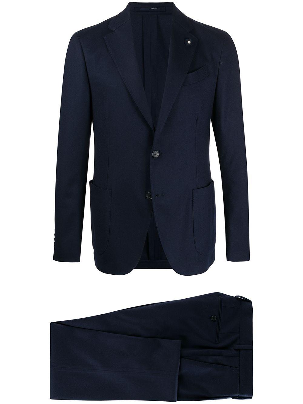 LARDINI Slim-Fit Fine Knit Suit