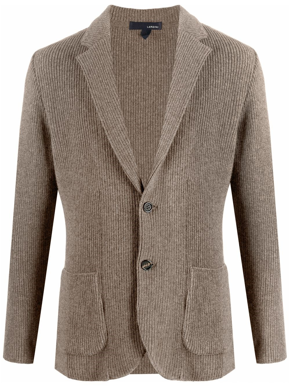 LARDINI Single-Breasted Knit Blazer