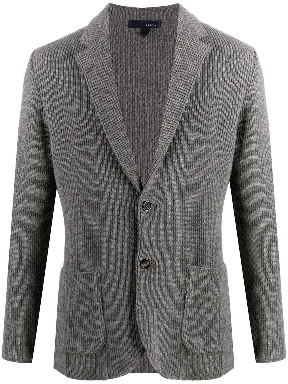 LARDINI Fitted Knit Jacket