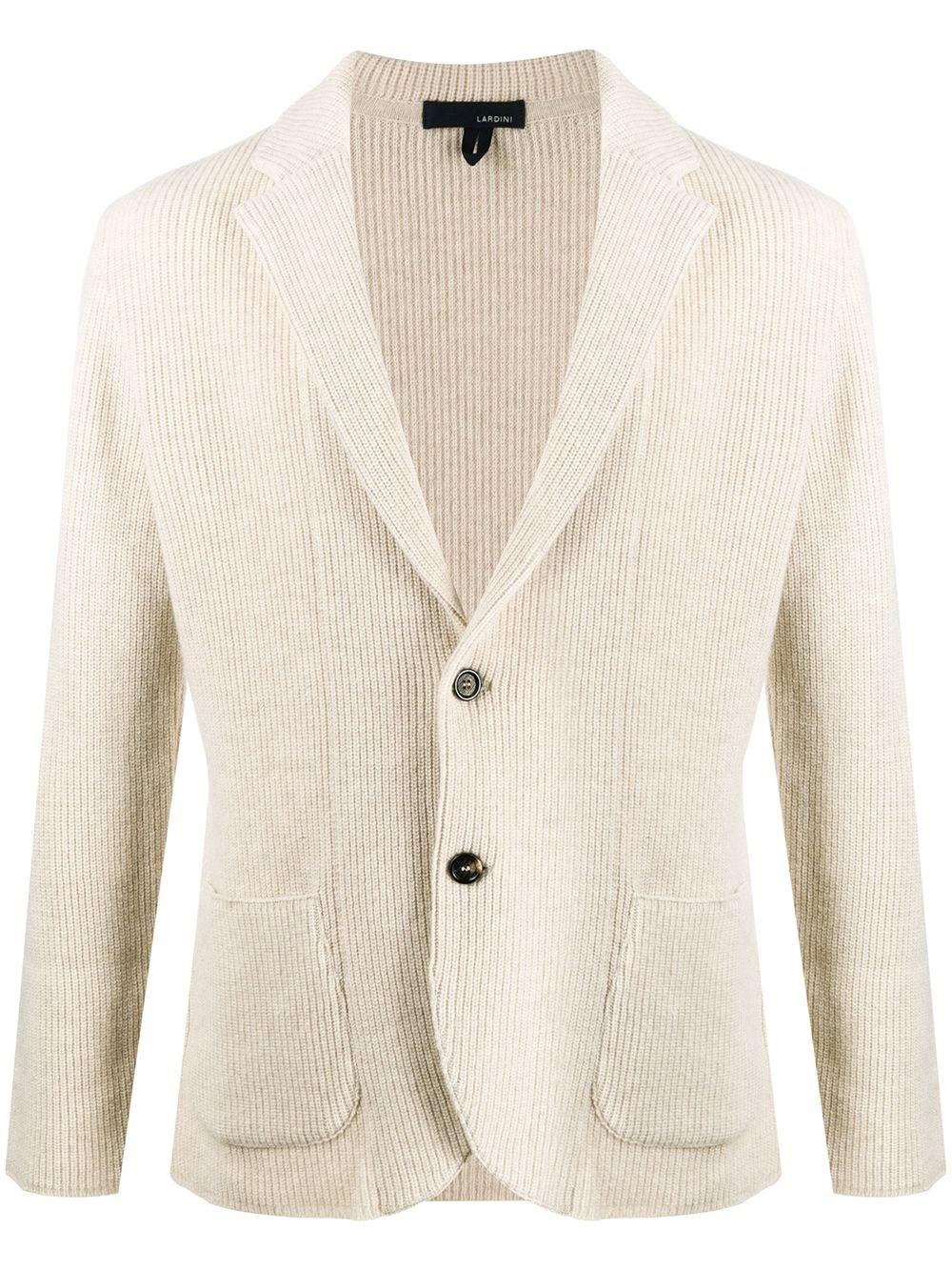 LARDINI Fitted Knit Blazer