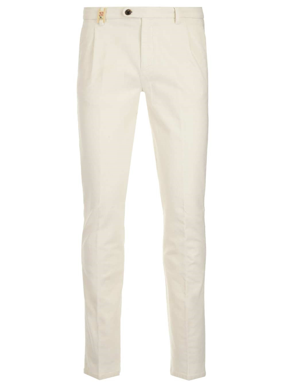 BARMAS White Velvet Trousers