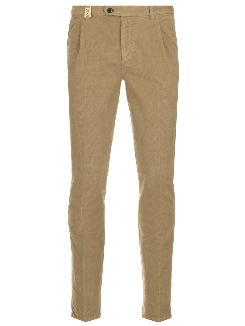 BARMAS Beige Velvet Ribbed Trousers
