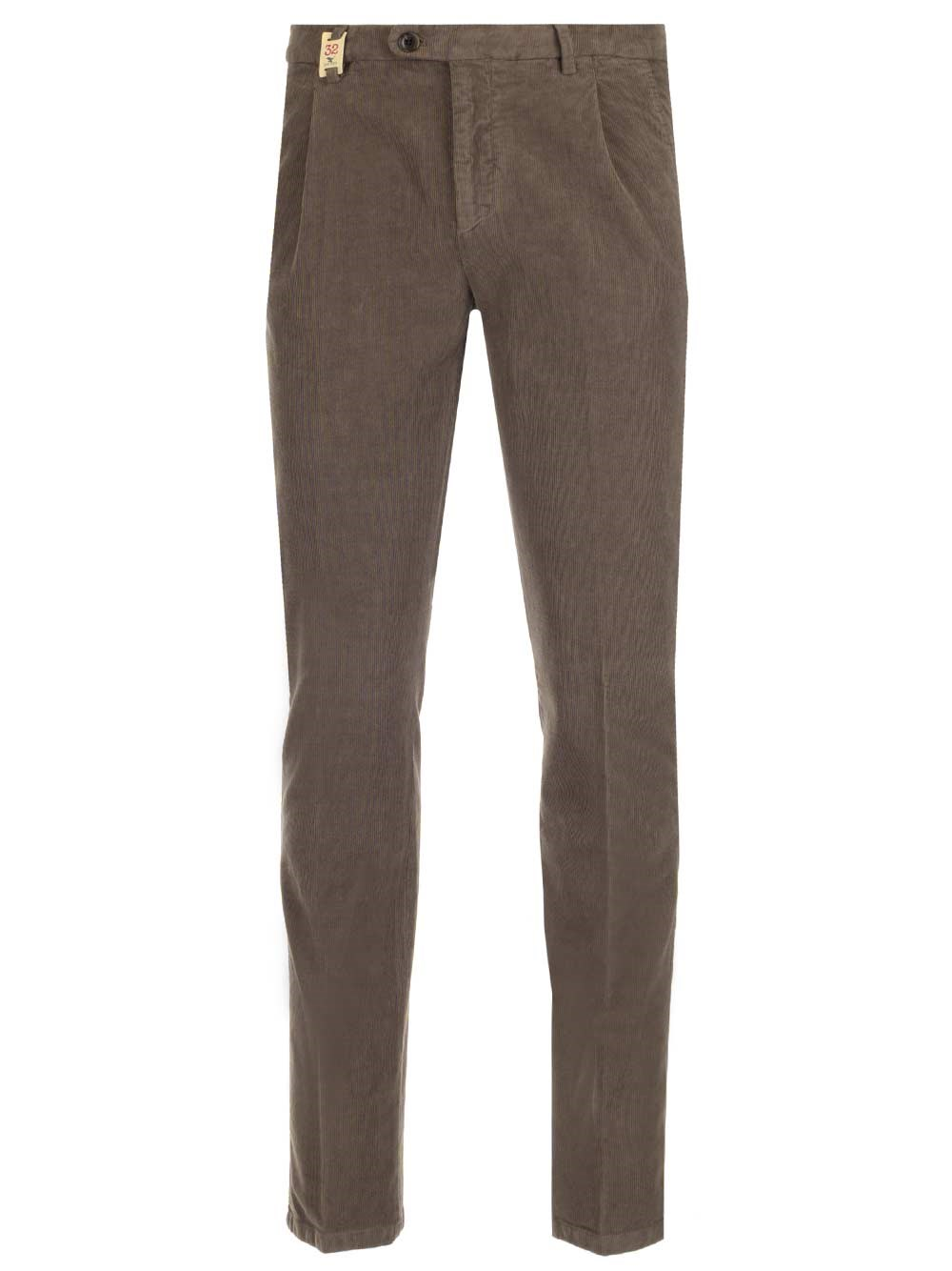 BARMAS Slim Fit Velvet Trousers