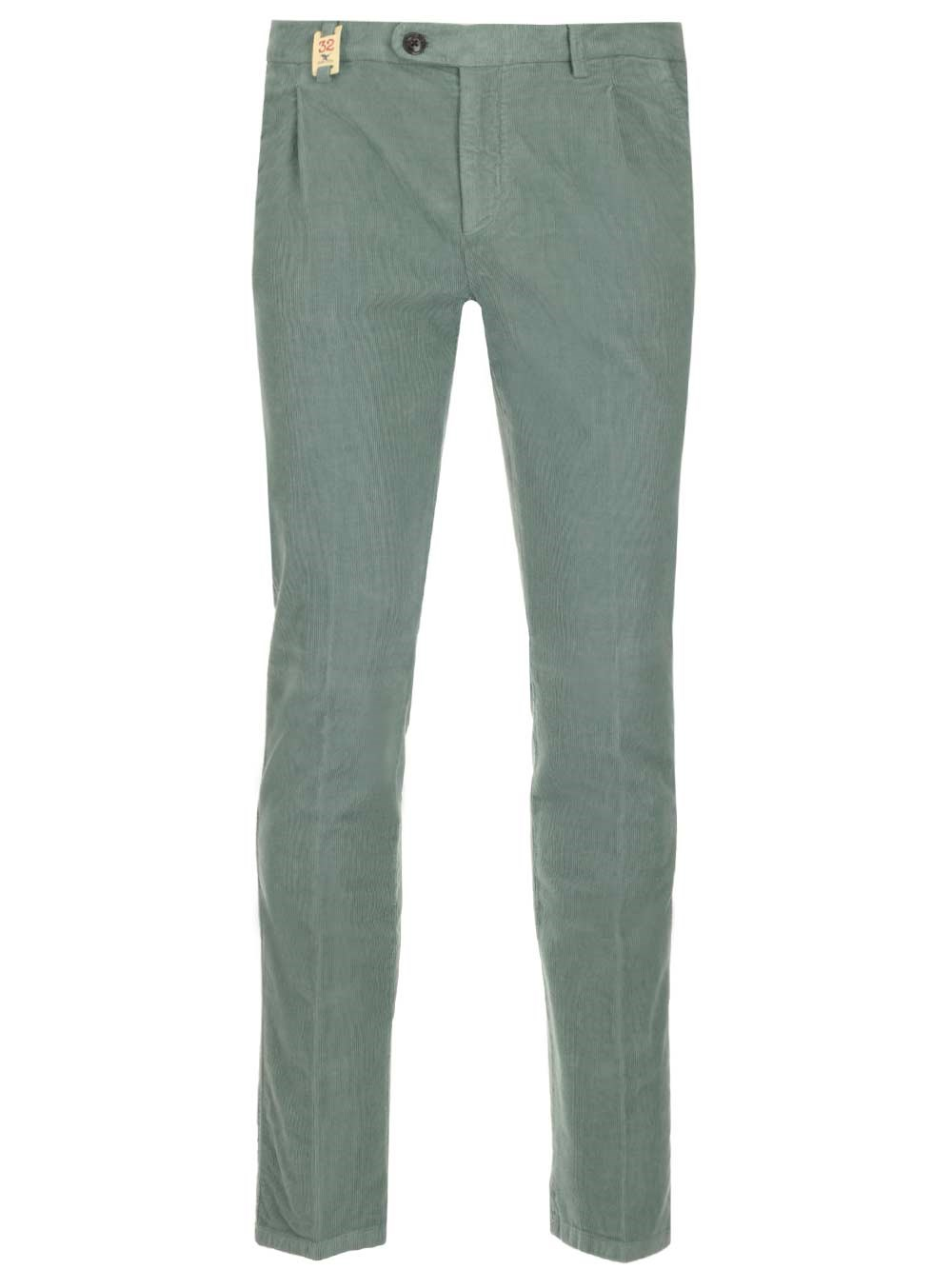 BARMAS Light Green Velvet Trousers