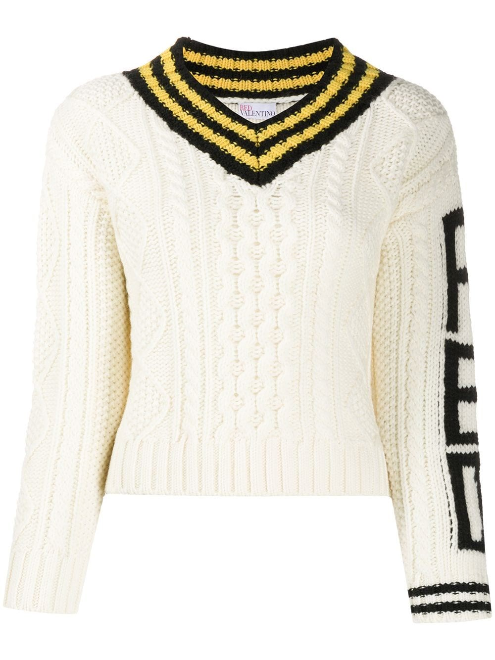 REDVALENTINO College Style Wool Sweater