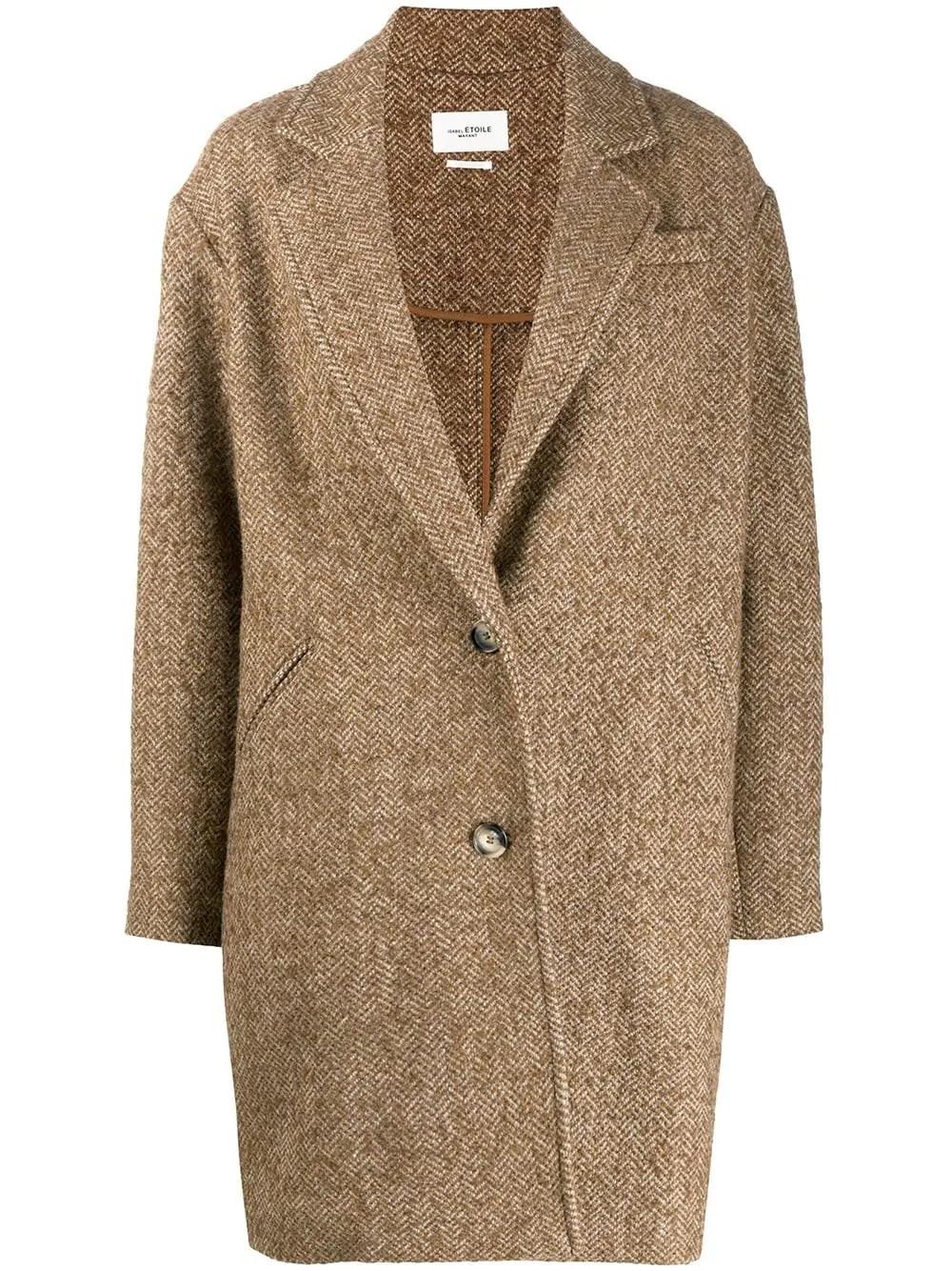 "ISABEL MARANT ETOILE Camel Beige Wool ""Dante"" Coat"
