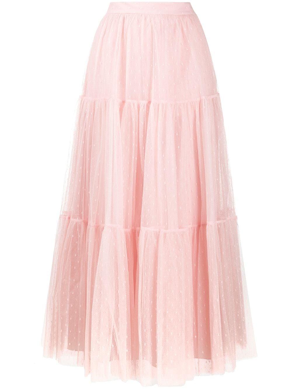 REDVALENTINO Flared Tulle Skirt