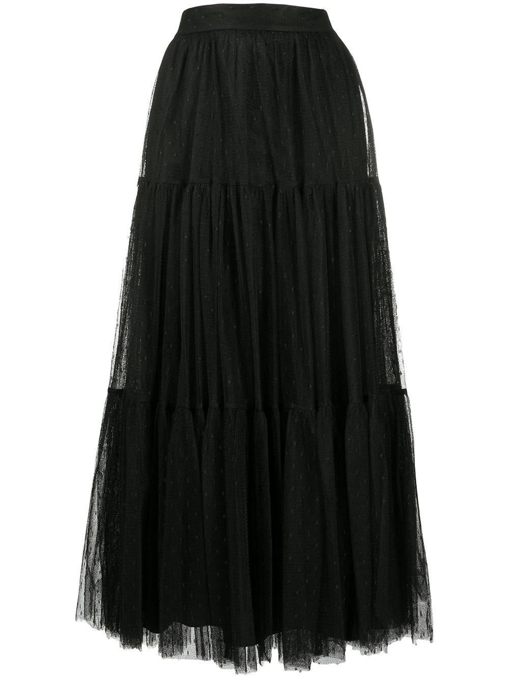 REDVALENTINO Point D'esprit Tulle Skirt