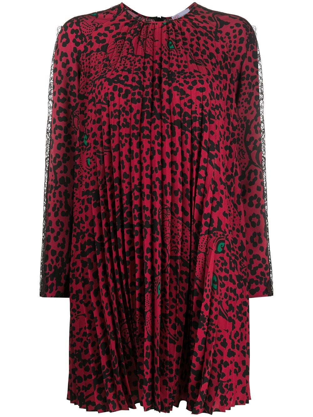 "REDVALENTINO ""Leo Panther"" Pleated Mini Dress"