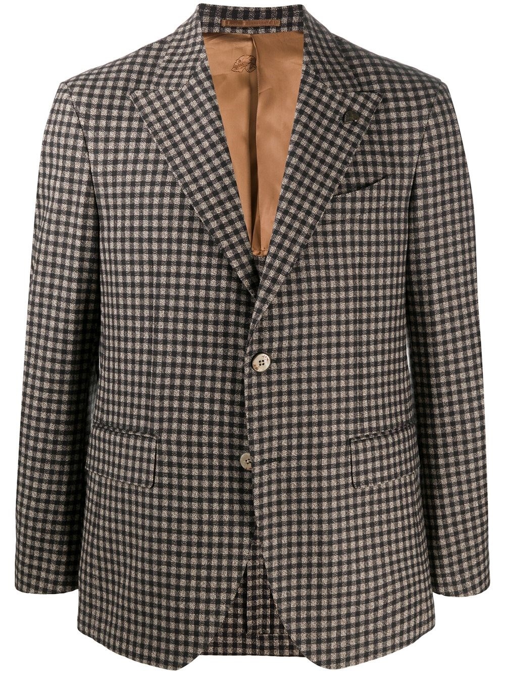 GABRIELE PASINI Check Print Tailored Blazer