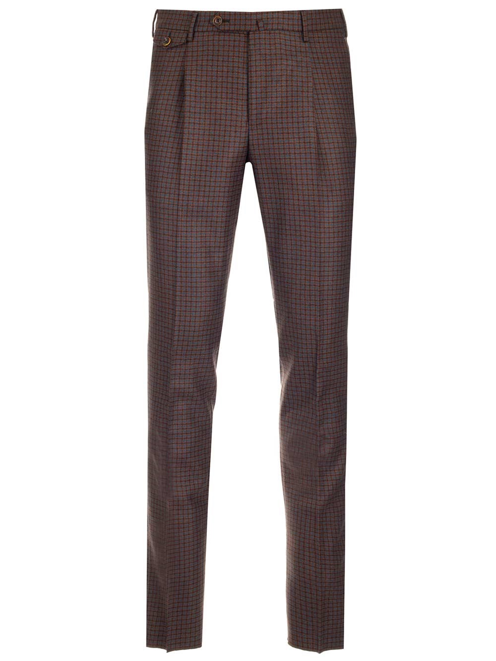 PT TORINO Checked Wool Trousers