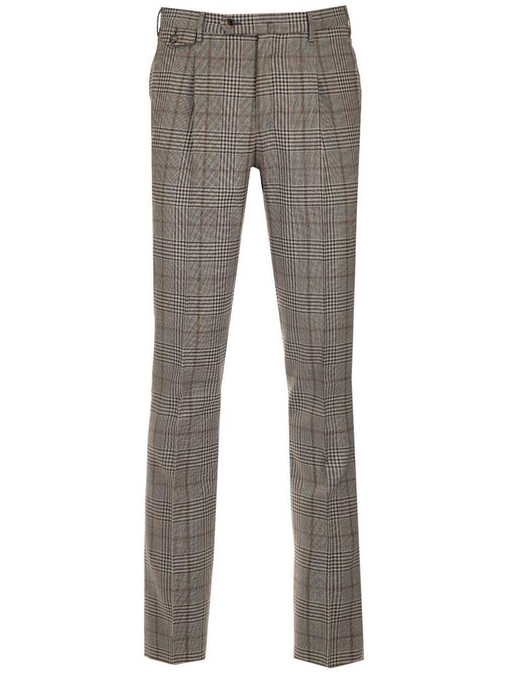 PT TORINO Prince Of Wales Wool Trousers