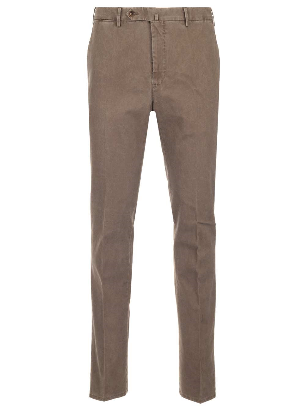 PT TORINO Beige Washed Cotton Trousers