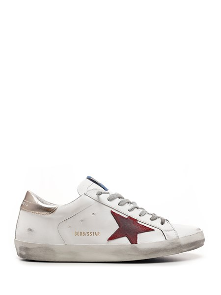 Golden Goose Deluxe Brand White and red