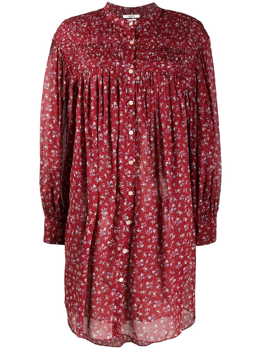 ISABEL MARANT ETOILE Cotton Voile Shirt Dress