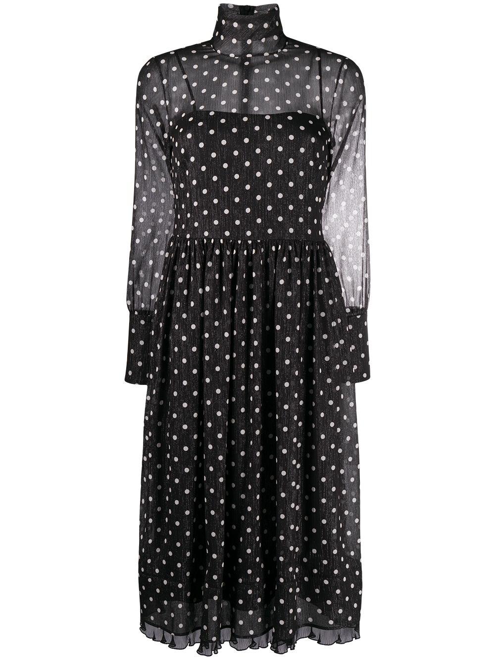 REDVALENTINO Polka Dot Midi Dress