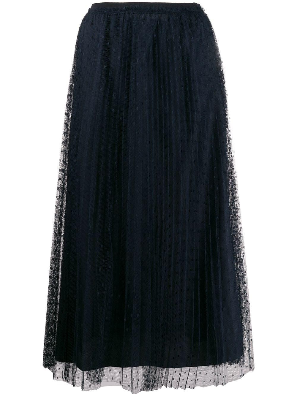 REDVALENTINO Dark Blue Tulle Skirt