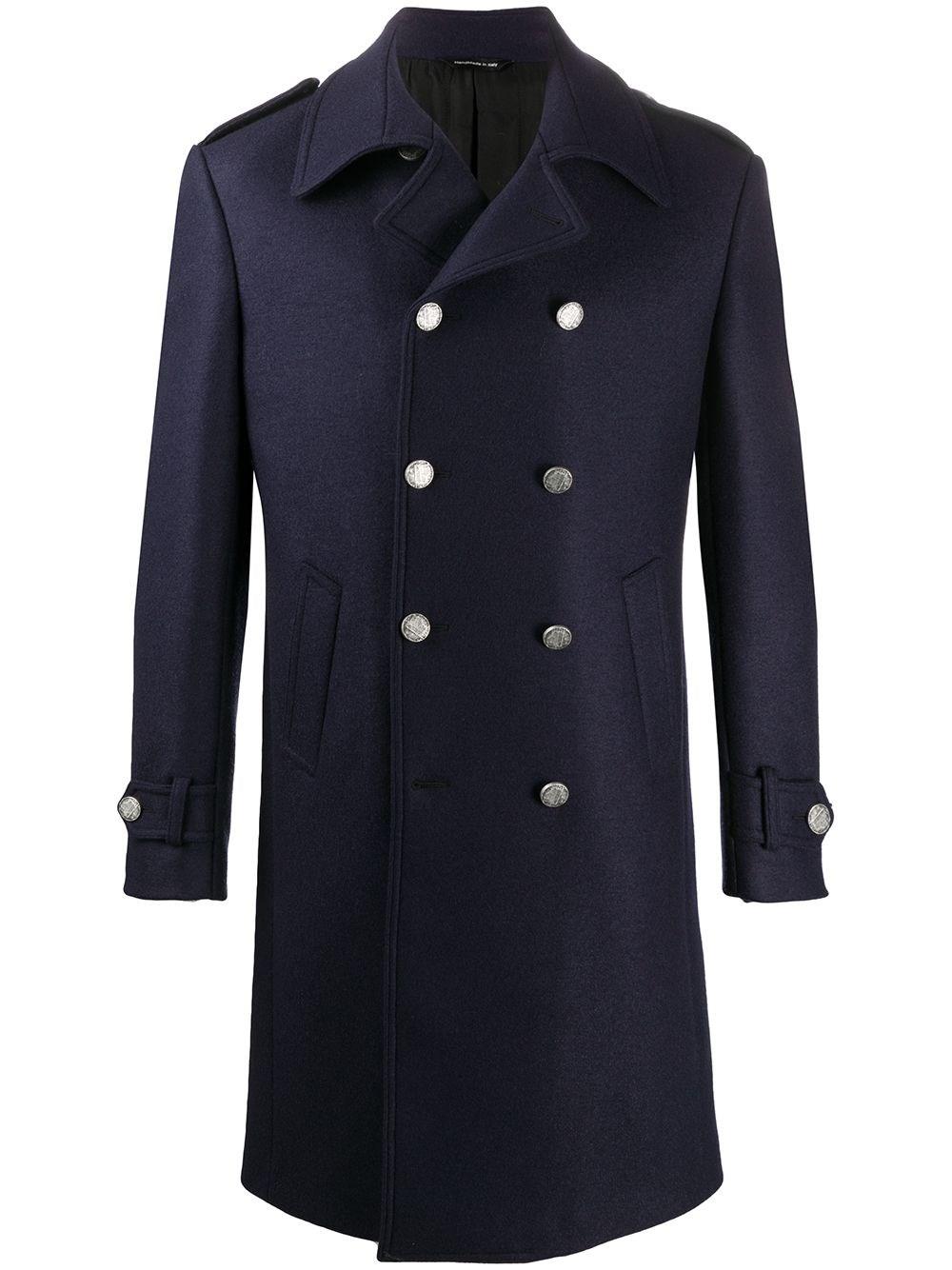 TONELLO Double-Breasted Tailored Coat