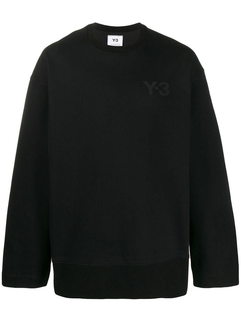 ADIDAS Y-3 Black Oversize Sweatshirt