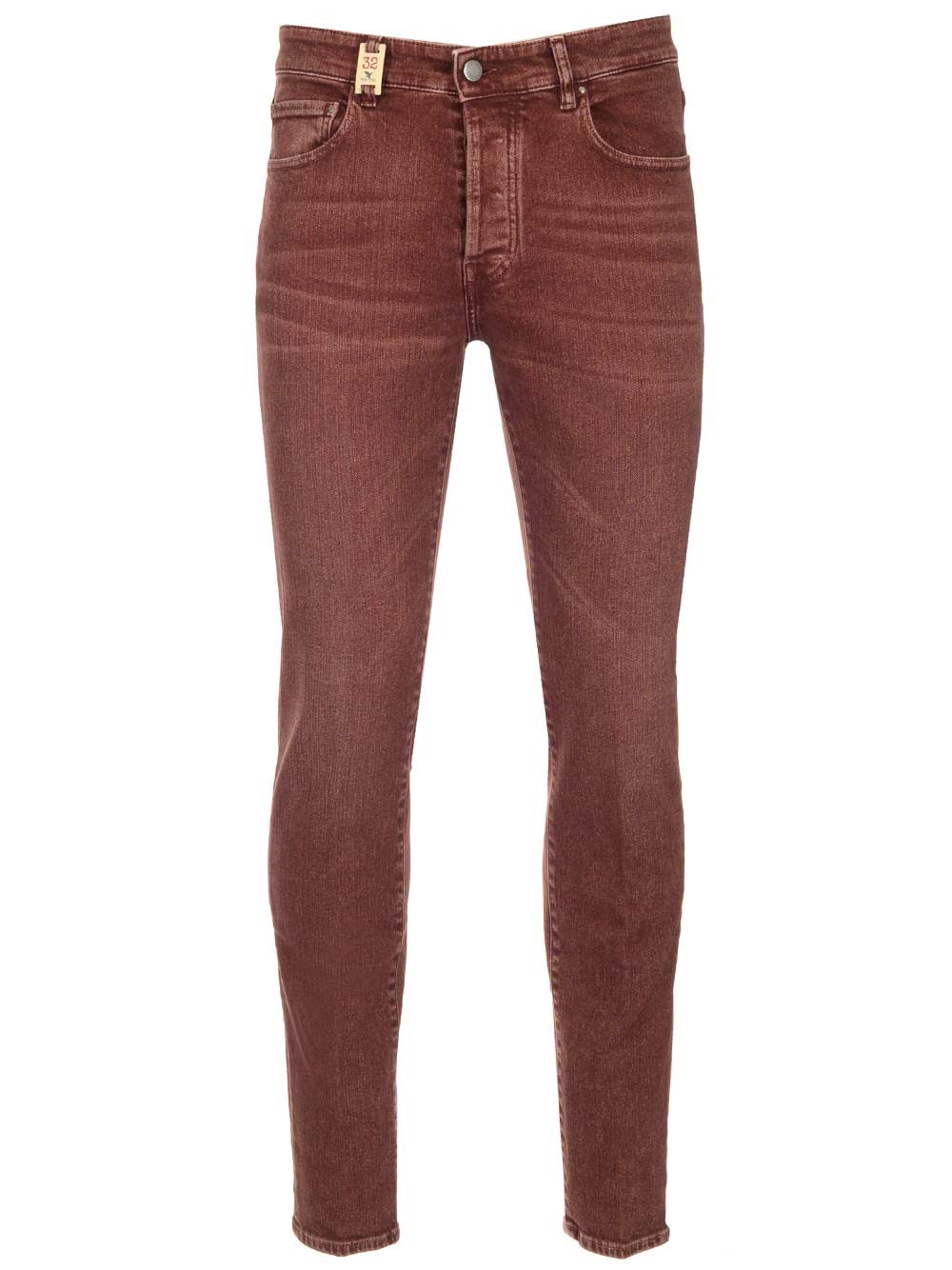 BARMAS Burgundy Stretch Cotton Jeans