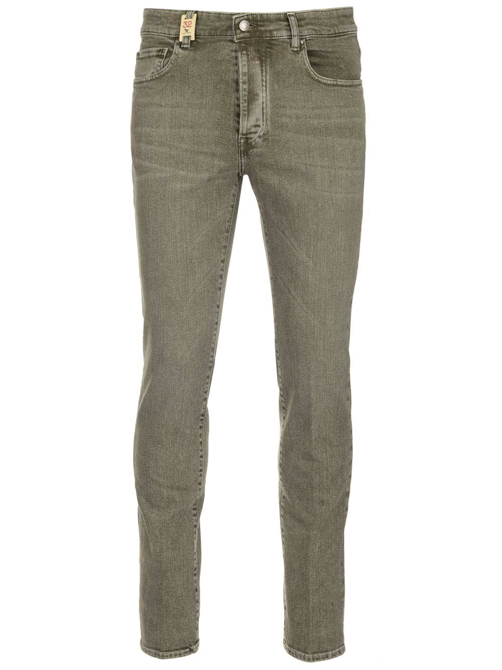 BARMAS Khaki Green Slim Fit Jeans